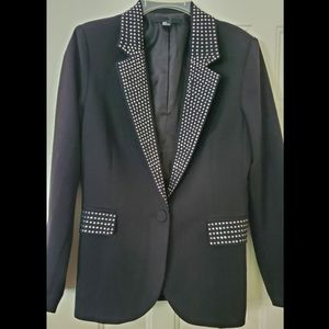 Bling black blazer